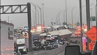 ⛔️TERRIBLE ACCIDENTE EN I35 TX 100 VEHÍCULOS INVOLUCRADOS ⛔️