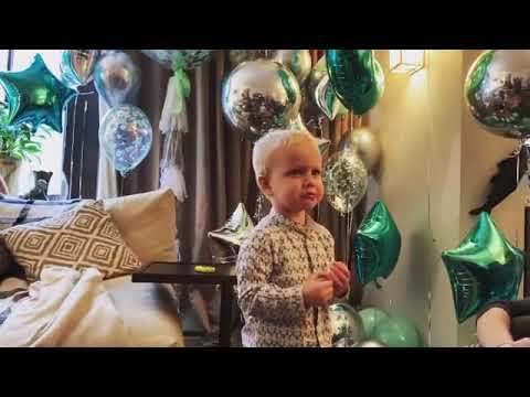 3-летний сын Ксении Собчак сам себя поздравил с днем рождения