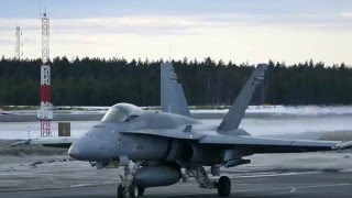 F/A-18 action - runway 30 departures at Oulu EFOU