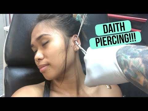 I Got a Friday the 13th Piercing!! || DAITH PIERCING