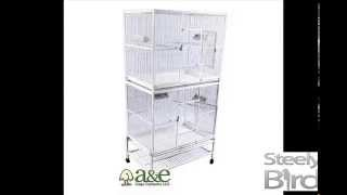 "32""x21"" Double Stack Flight Cage With 1/2"" Bar Spacing - A&e Bird Cages"