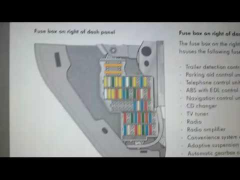 VW TOUAREG fuses without power  YouTube