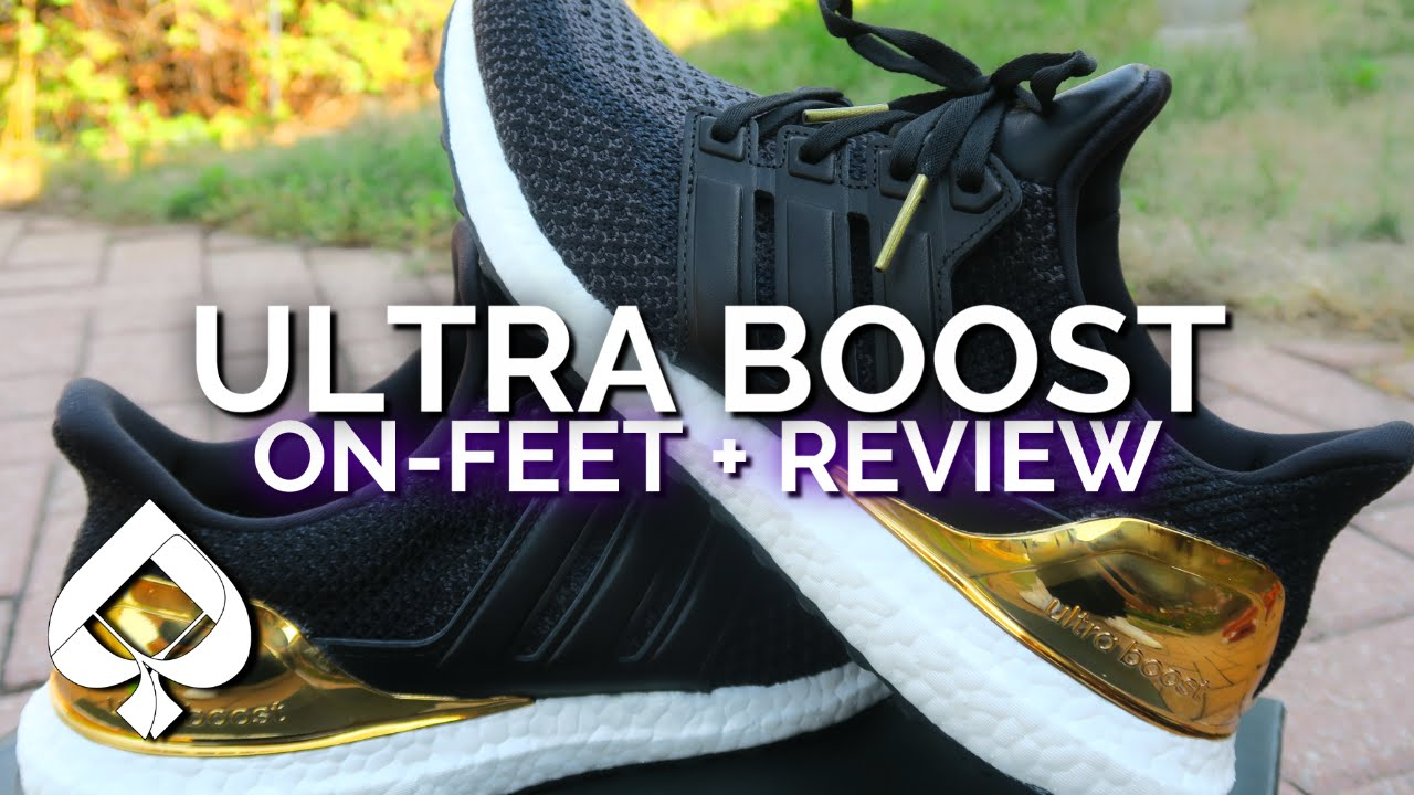 8b4e8c82782 Adidas Ultra Boost GOLD MEDAL Review + On-Feet - YouTube