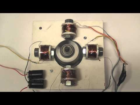 Open induction motor -- Home made field coils