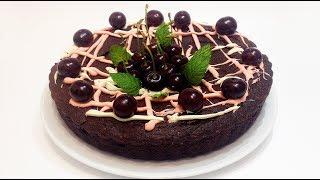 ПИРОГ ШОКОЛАДНЫЙ с ВИШНЕЙ (chocolate cake with cherry)