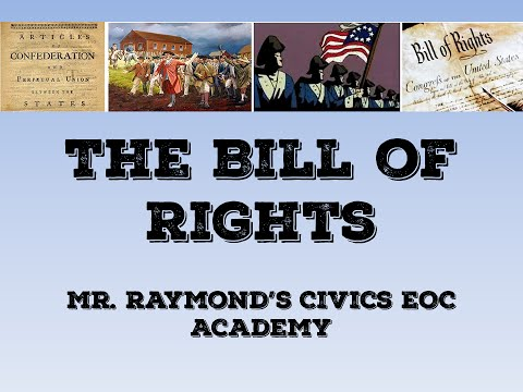 The Bill of Rights - Civics State Exam
