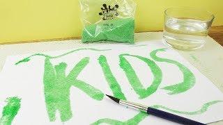 Glibbi Slime Experiment   Malen & Schreiben mit Glibbi?! DIY Spaß für Kinder   Schleim Bilder machen