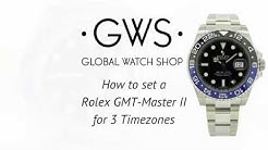 How to set a Rolex GMT Master II for 3 timezones