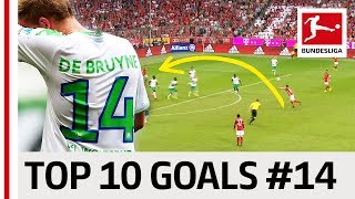 Top 10 Goals Jersey Number 14 - Alonso, de Bruyne & More