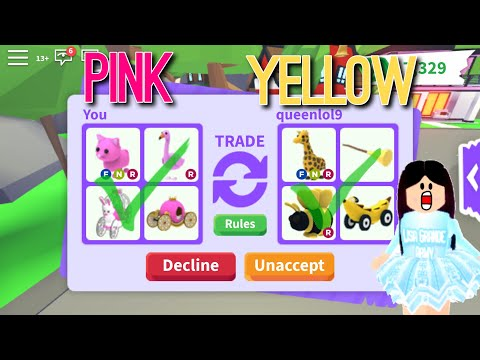 ONE COLOR TRADING CHALLENGE In Adopt Me! Roblox