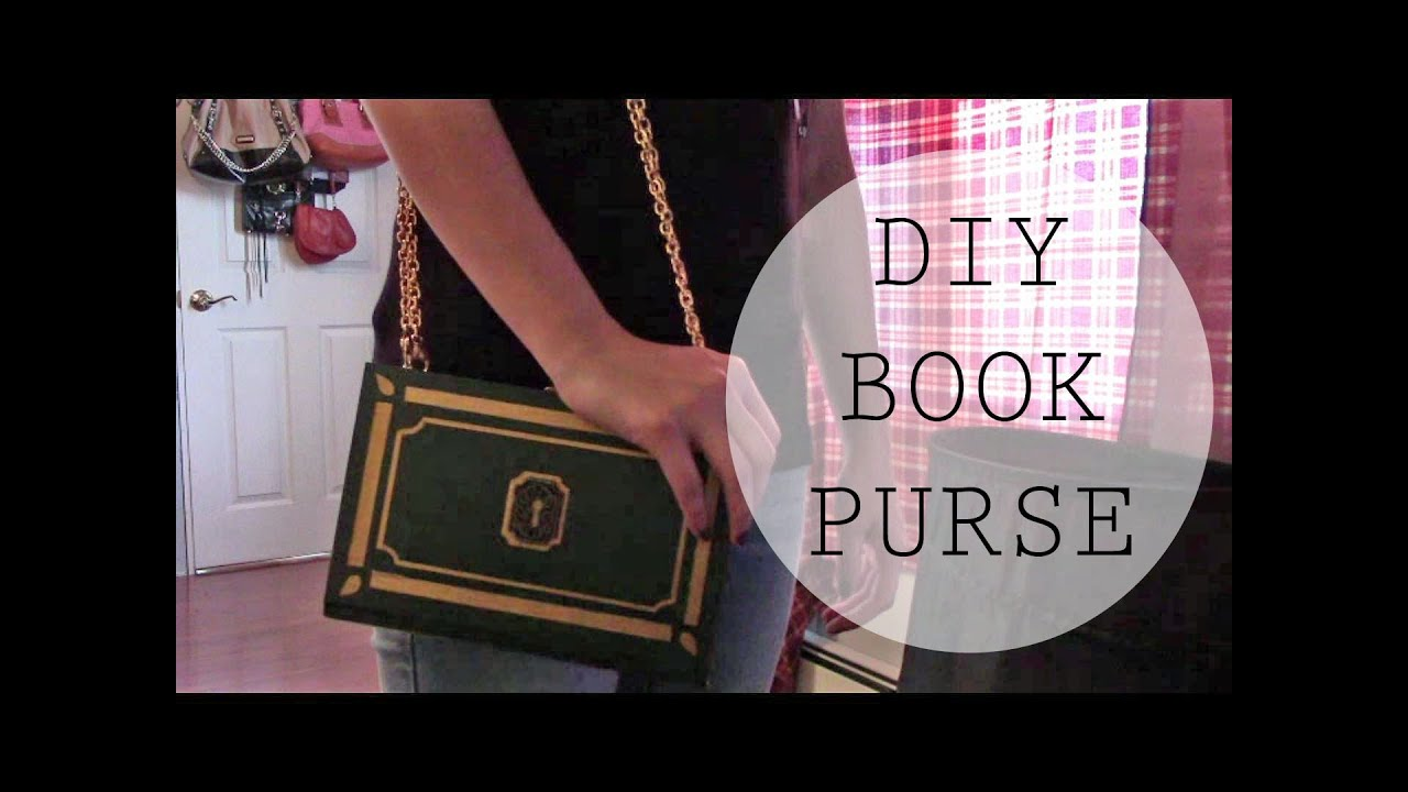 Diy book purseclutchsecret storage youtube diy book purseclutchsecret storage solutioingenieria Choice Image
