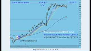 My Forex Magic Wave.  Trades Taken in my Live Trading Room By G. Samdani