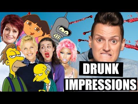 Drunk Impressions | 42 Impressions Drunk | Impressions FAIL | Philip Green Celebrity Impressions