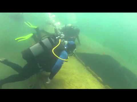 Divers made video under Sevan lake in Armenia