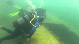 Divers made video under Sevan lake in Armenia