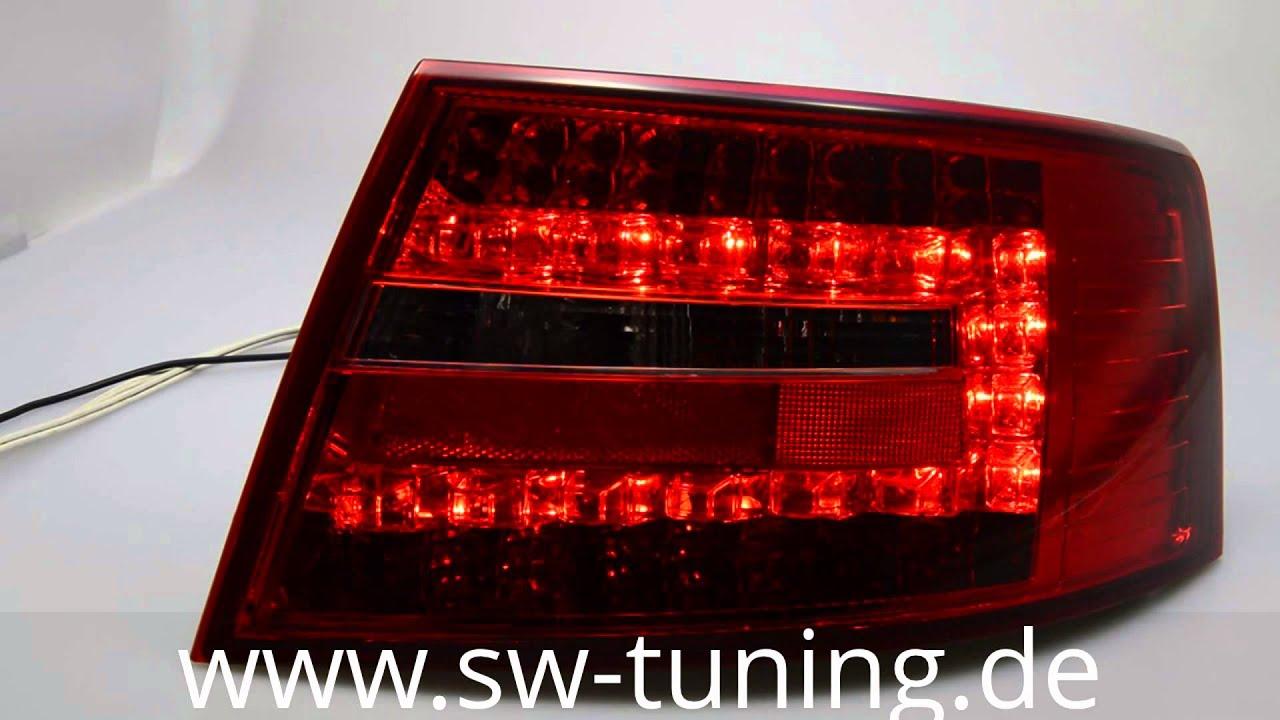 led r ckleuchten f r audi a6 4f limousine red smoke by sw. Black Bedroom Furniture Sets. Home Design Ideas