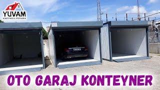 Otomatik Kepenkli Konteyner Araba Garajı İncelemesi - 21 M2   Yuvam Konteyner