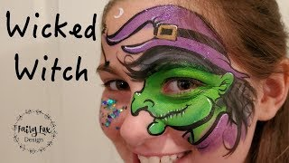 Wicked WITCH & Black Cat - Halloween Face Paint Tutorial