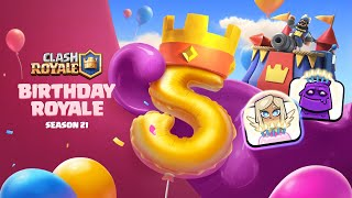 Clash Royale: 5th ANNIVERSARY (New Season! Free Emotes!)