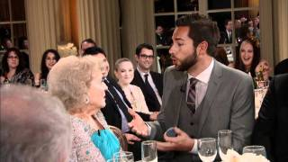 betty white 90th birthday tribute clip 4 zachary levi proposes