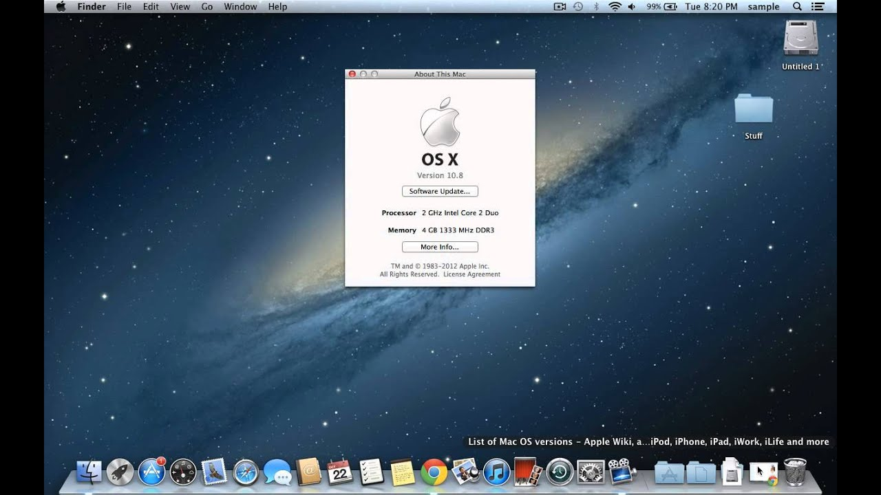 How to find which version of OSX is on your Mac