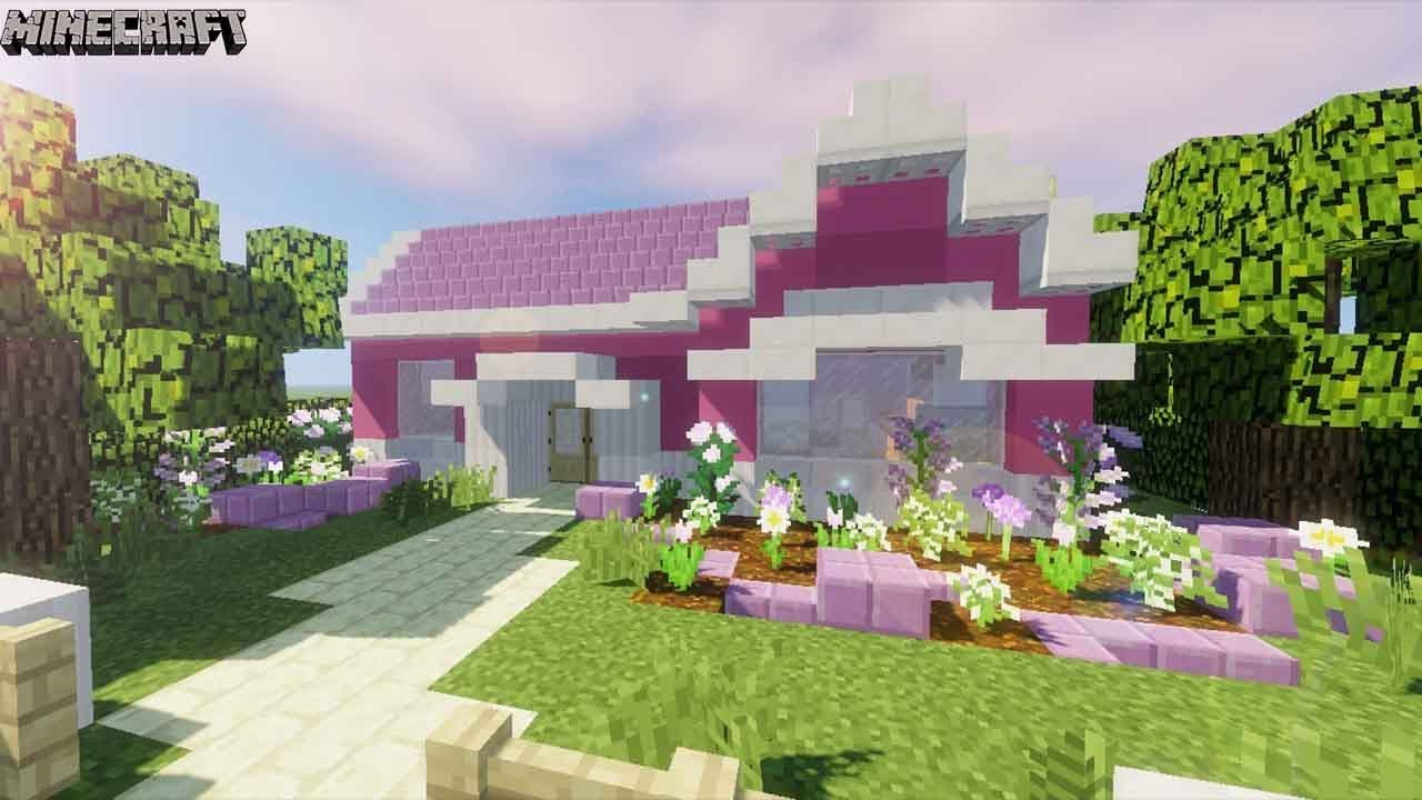 Minecraft Pretty Pink Girly Suburban House Tutorial Youtube