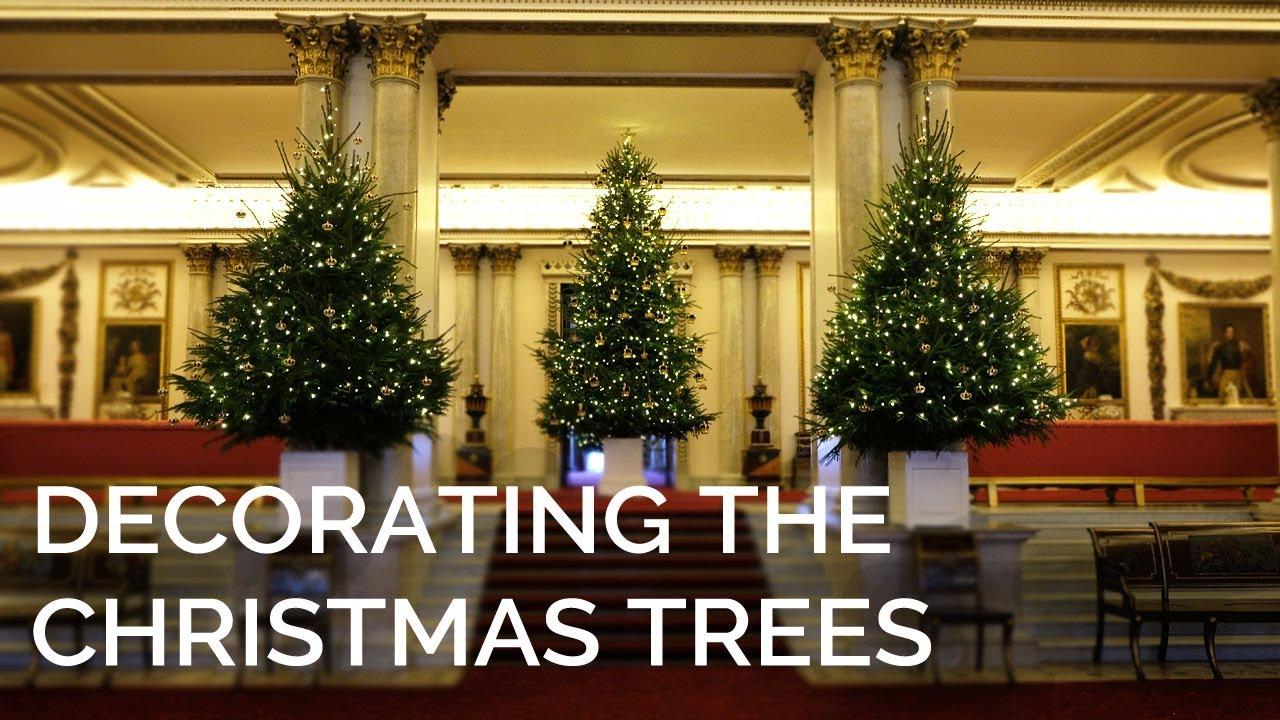 Christmas Palace.Christmas Trees Arrive At Buckingham Palace