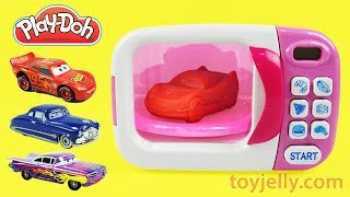 Play Doh Cooking Disney Cars Modeling Clay Microwave Oven Playset Baby Song Nursery Rhymes for Kids