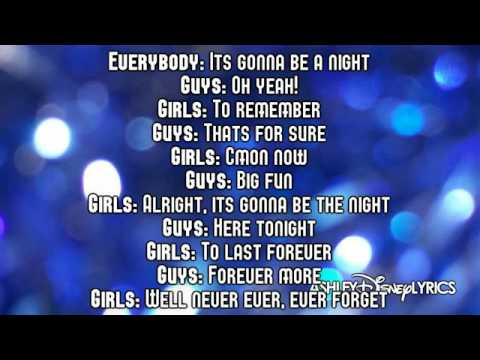 High School Musical   A Night To Remember Lyrics  HD