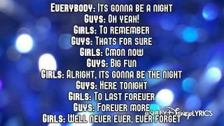 High School Musical   A Night To Remember Lyrics Video) HD