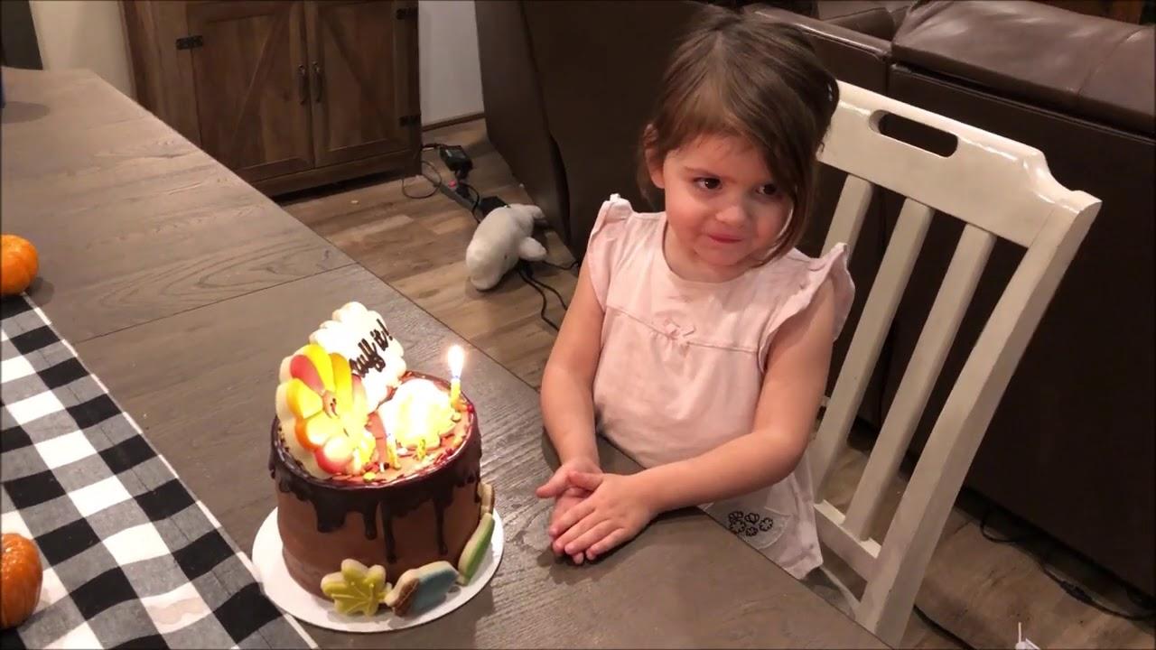 Toddler London's Thanksgiving Theme Birthday Cake.