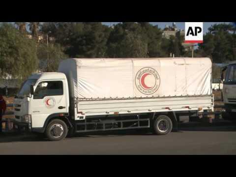 Aid convoy departs Damascus