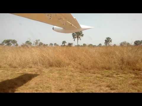 Dusty Take Off Eagle Air Let410 Yei Airstrip, South Sudan