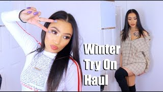 Hella Cute Winter Try On Haul   Talever Clothes