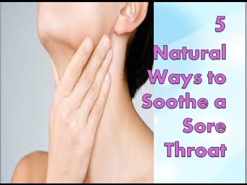 5 natural Ways to Soothe a Sore Throat