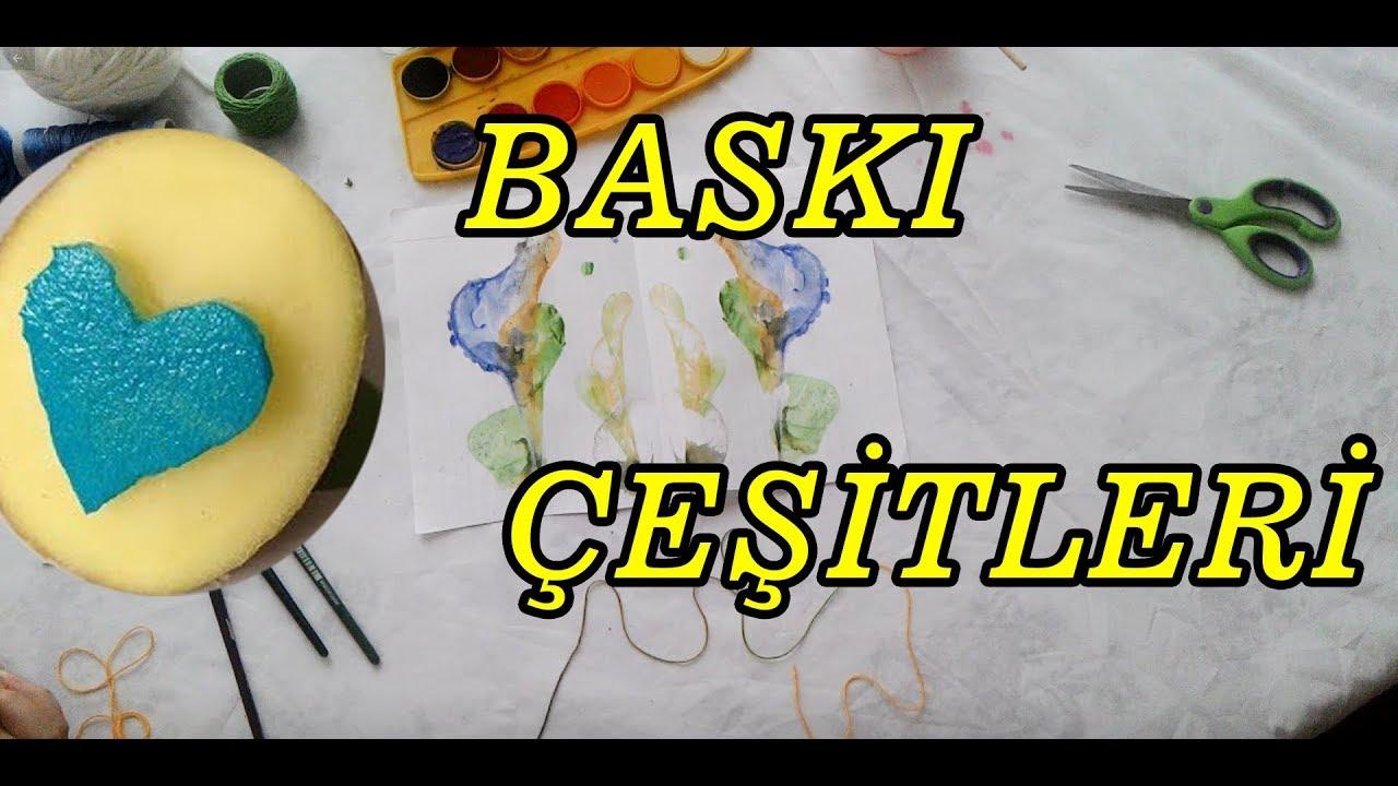 Okul Oncesi Baski Teknikleri Youtube