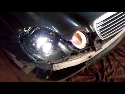 Замена штатных биксеноновых линз Mercedes
