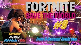 🔴 Balkan Fortnite IGRAMO SAVE THE WORLD #9 + GIVEAWAY Fortnite Ace Pack!!! Farmamo V-Baksuze