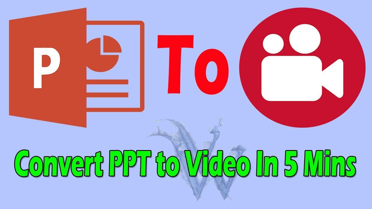 How to convert powerpoint file (ppt / pptx) to mp4 video file for.