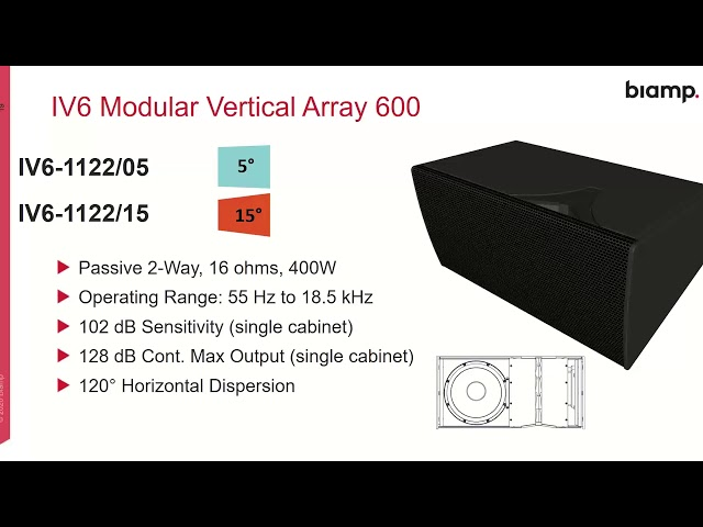 Community IV6 Modular Vertical Array Overview and Applications