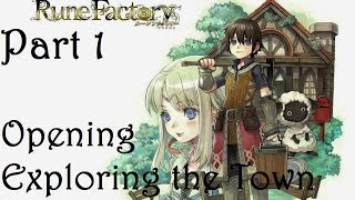 Rune Factory: A Fantasy Harvest Moon Part 1 - Opening and Exploring the Town