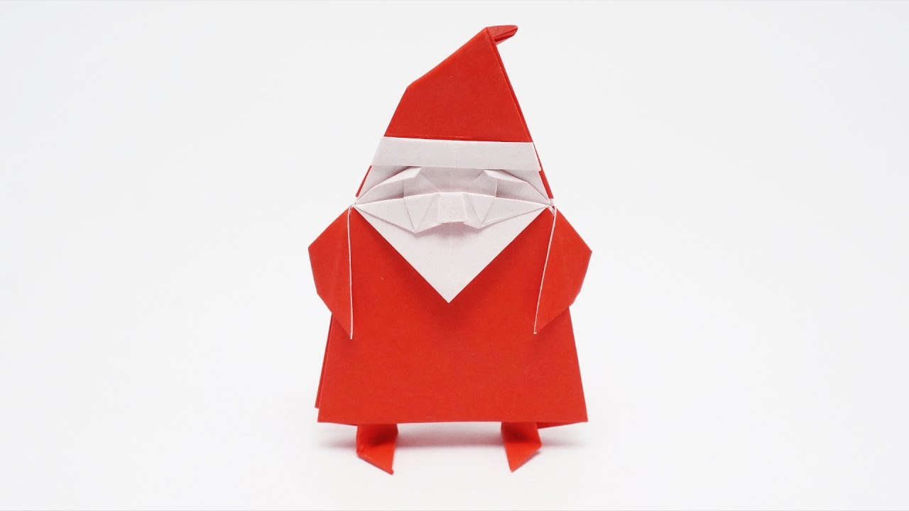 How to Make an Origami Santa Claus? | DIY | Craft Ideas - YouTube | 720x1280