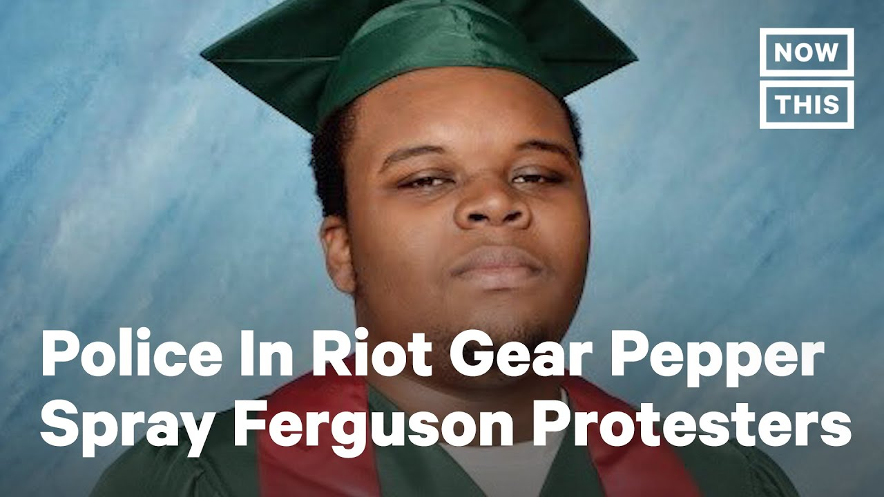 Police Pepper Spray Protesters On Anniversary of Michael Brown's Death | NowThis