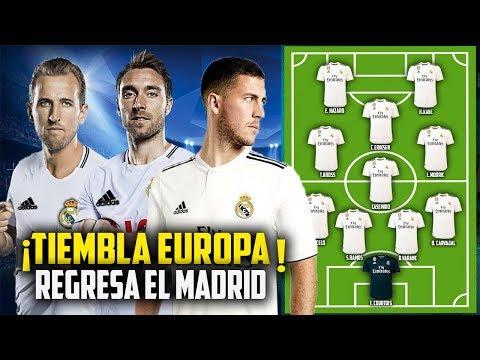 Asi sera la GRANDIOSA Alineación del Real Madrid para la próxima temporada