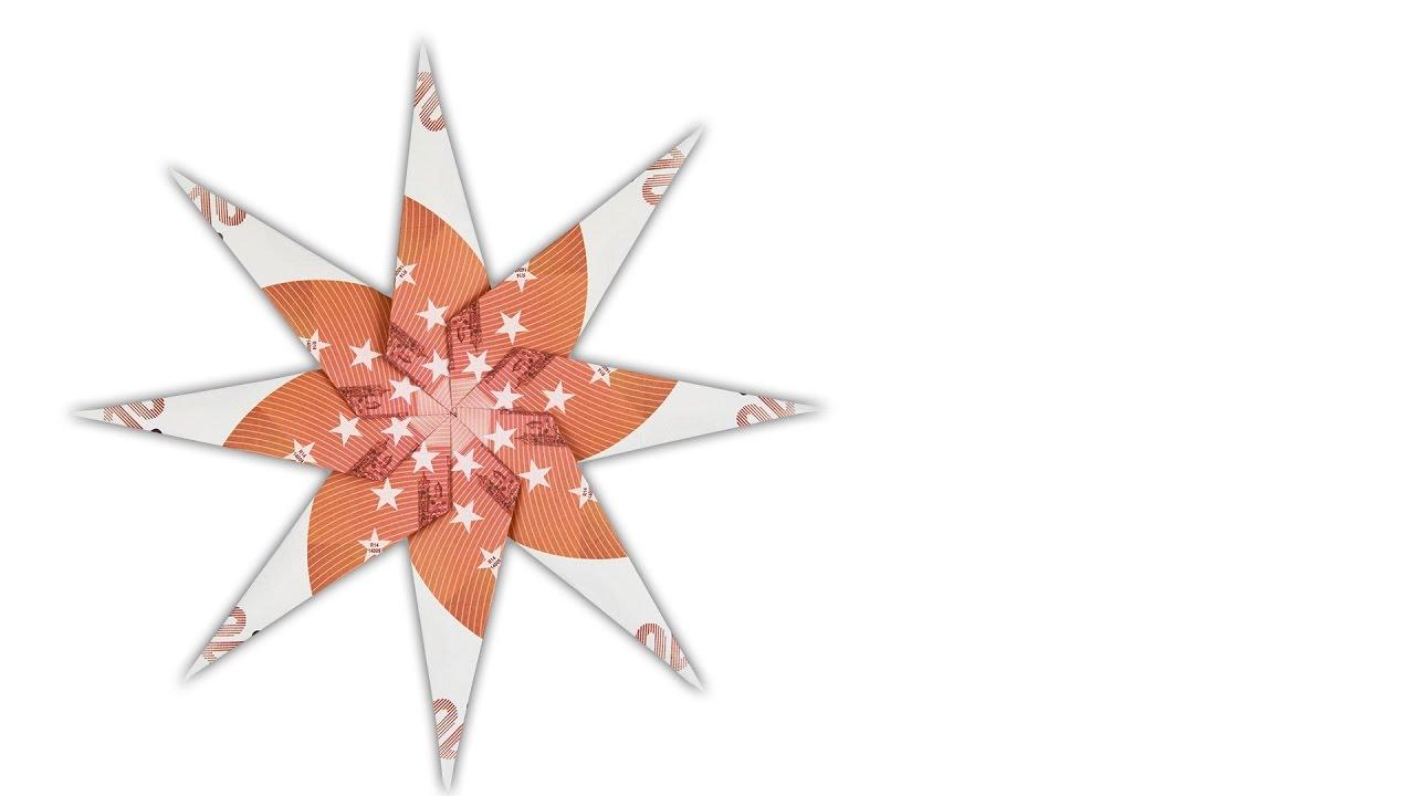 geldscheine falten stern geldgeschenke f r weihnachten. Black Bedroom Furniture Sets. Home Design Ideas
