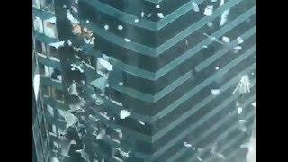 Le typhon Mangkhut fait souffrir les gratte-ciels chinois