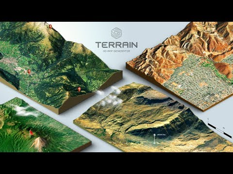 How to create a 3D Terrain with Google Maps and height maps