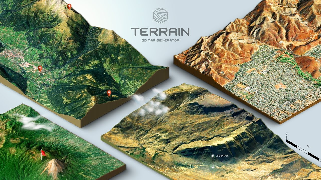 How to create a 3D Terrain with Google Maps and height maps in Photoshop -  3D Map Generator Terrain