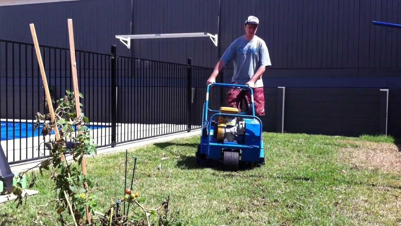 Lawn Aerator Corer From City Hire Brisbane