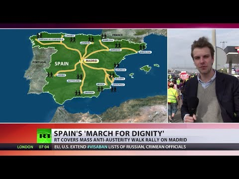 Madrid March: Thousands of anti-austerity protesters converge on Spanish capital